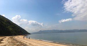 女木島の浜
